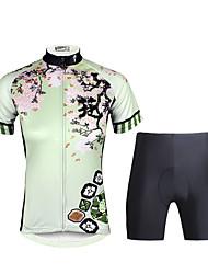 PALADIN® Maillot et Cuissard de Cyclisme Femme Manches courtes VéloRespirable / Séchage rapide / Résistant aux ultraviolets / Pocket