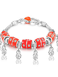 Strand Bracelets 1pc,Red Bracelet Fashionable Circle 514 Alloy Jewellery