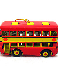the bus Wind-up Toy Leisure HobbyMetal Red For Kids