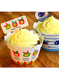 Birthday Party Tableware-50Piece/Set Cake Accessories Tag Card Paper Classic Theme Other Non-personalised Multi Color