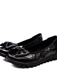 Damen-Flache Schuhe-Hochzeit / Lässig / Sportlich-Leder-Flacher Absatz-Pumps / Modische Stiefel / Passende Schuhe & Taschen / Flache