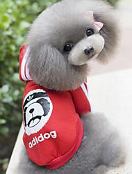 Perros Saco y Capucha Rojo / Azul / Amarillo Invierno Caricaturas Mantiene abrigado, Dog Clothes / Dog Clothing-Other