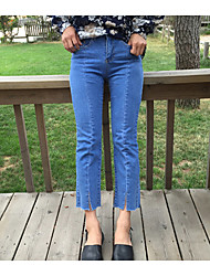 Women's Blue Jeans Pants,Simple