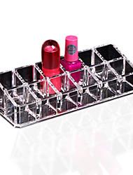 1pcs 12 de exibição stand titular maquiagem de armazenamento cosméticos batom claro