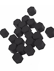ZIQIAO 19MM Silicone Car Wheel Hub Screw Nut Decoration Cap Cover black Car Styling Protective Bolt 20pcs