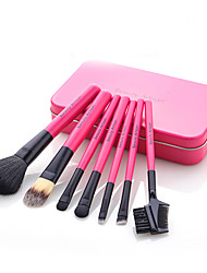 Beauty Artisan   7 Makeup Brushes Set Synthetic Hair Portable Wood Face