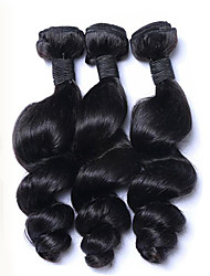 "3pcs/Lot 300g 8""-26"" Mix Size Color #1B Malaysian Loose Wave Virgin Human Hair Weaves Style Hot Sale."