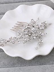 Mujer Diamantes Sintéticos Celada-Boda Ocasión especial Oficina Peinetas 1 Pieza