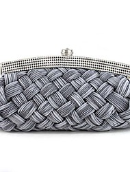 L.west Women Elegant High-grade Weaving Diamonds Evening Bag