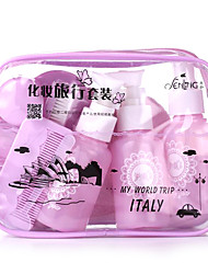 Fenlin ® Super Travel Makeup Set Towel+Teethbrush+Bottles 10 in One Set Random Color