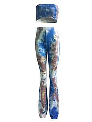 Summer wide leg pants big yards package hip gradient popular speaker pants suit women