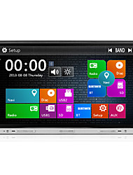 2 din 8 polegadas 800 * 480 carro dvd player com rádio gps navi traço em built-in 3G wi-fi bt ipod / iphone usb SWC / sd