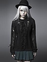 punky delirio PM-003 de la vendimia de las mujeres / atractivo inelástica jersey de manga larga medio