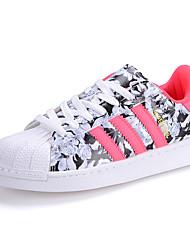 Черный Розовый Белый-Женский-Повседневный Для занятий спортом-Полиуретан-На плоской подошвеНа плокой подошве
