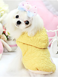 Dog Coat / Hoodie Yellow Winter Solid Keep Warm, Dog Clothes / Dog Clothing