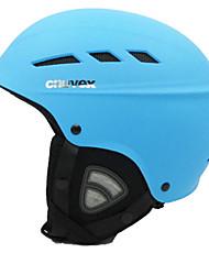 Универсальные шлем Л: 58-61CM Спортивные Ультралегкий (UL) Фиксированный 14 CE EN 1077 Снежные виды спорта / Лыжи Желтый / Синий