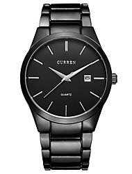 Curren® Men's Watch Dress Watch Calendar Casual Watch Steel Band Black Cool Watch Unique Watch Fashion Watch