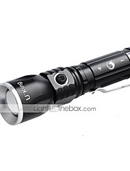 U'king CREE XM-L T6 3 Mode 1000LM Adjustable Focus Telescopic / Rechargeable Flashlight14500 / AA Battery