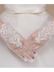 Wrist Length Fingertips Glove Net Bridal Gloves Spring / Summer / Fall lace