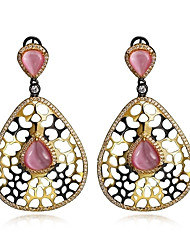 Drop Earrings Zircon Cubic Zirconia Copper Opal Fashion Oval Drop Gold-Black Jewelry Wedding Party Daily Casual 1 pair