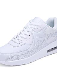Da donna-Sneakers-Tempo libero / Casual / Sportivo-Comoda-Piatto-Tulle-Rosso / Bianco