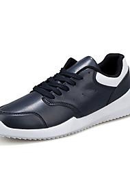 Herrenschuhe-Sportlich-Sneaker-Mikrofaser-Schwarz / Blau / Weiß