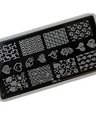 Arte del chiodo che timbra il piatto della matrice raschietto 12*6cm