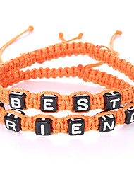 Retro Fashion Color Letters Best Friend Adjustable Bracelet