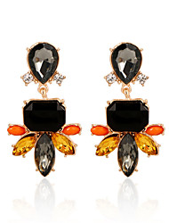 Hot Sale Vintage Fashion Fine Jewelry Brincos Beautiful Rhinestone Flower Crystal Dangle Earrings For Women