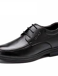 Черный / Коричневый Мужская обувь Для офиса / На каждый день Кожа Туфли на шнуровке