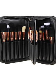 29Pcs Black Wool Hair Makeup Brushes Set