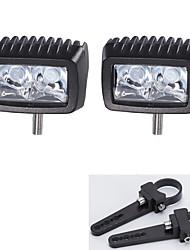 2pc cree 10w a mené la lumière de travail bar offroad conduite 12v voiture bar et une paire des supports de montage