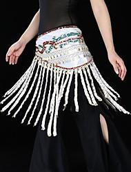 Danse du ventre Echarpe de Danse du Ventre Femme Spectacle Chinlon 1 Pièce Taille basse Echarpe de hanche de danse du ventre