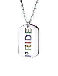 Necklace/Pendant Necklaces Stainless Steel Rainbow Jewelry Silver Women/Men's Neckalce 1pc Christmas Gift
