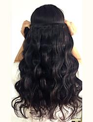 50g 8-26inch 1pcs onda del cuerpo del pelo brasileño virginal, color negro natural, pelo humano sin procesar virginal teje la venta