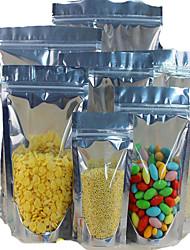 Bolsas yin e yang fábrica de alimentos de alumínio direta folha ziplock lanche sacos selados sacos de plástico manchar um pacote de dez