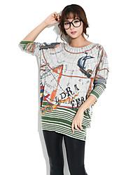 HANBELLE® Damen Rundhalsausschnitt Lange Ärmel Pullover & Cardigan Weiß / Grau / Beige-6813#