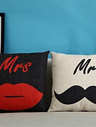 """Casual Style Cotton/Linen Pillow Case 17"""" by 17"""" Cartoon Pattern"""