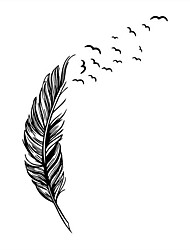 Flying Feathers Wall Stickers Living Bedroom Decoration