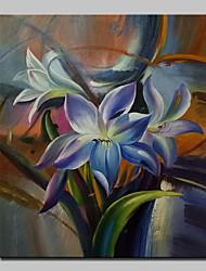 fleurs peintes peinture à l'huile à la main sur toile moderne photos d'art mural avec cadre étiré prêt à accrocher