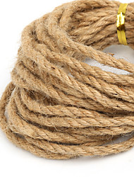 Beadia 4mm Natural Hemp Jute Cord For DIY Jewelry Craft Making (5Mts)