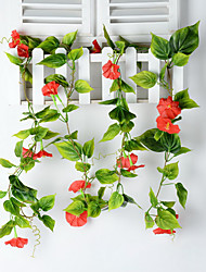 1 1 Une succursale Polyester / Plastique Autres Guirlande et Fleur Murale Fleurs artificielles 90.5inch/230cm