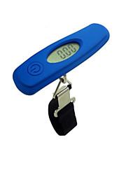 balance électronique portable (plage de pesée: 50 kg / 10g, bleu)