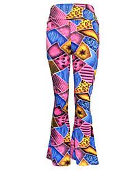 Pantalon Aux femmes Large Bohème Polyester / Spandex Elastique