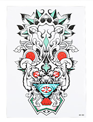 1pc Flower Arm Sleeve Back Shoulder Tattoo Temporary Kylin Chinese Dragon Women Body Art Tattoo Sticker HB-080