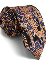 Men's Necktie Tie 100% Orange Blue Jacquard Woven Dress For Men Wedding Dress Casual