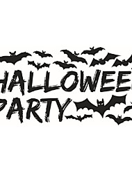 Art Home Decoration Removable Wall Stickers Horrible Bats In Black Halloween Party Living Room Decals Festival Decor