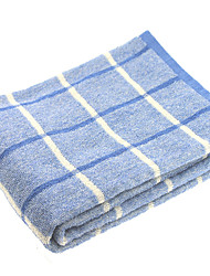"1PC Full Cotton Bath Towel 23"" by 47"" Plaid Pattern Multicolor Super Soft Strong Water Absorption Capacity"