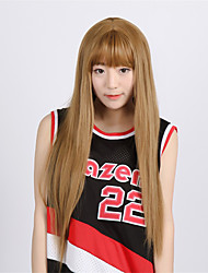 High Quality Japanese Anime Hair Wigs Irisviel von Einzbern light Brown Middle Part 70CM Long Straight Cosplay Wig