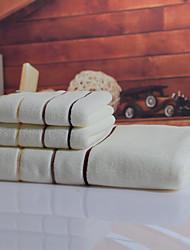 Conjunto de Toalhas de Banho Castanho Branca,Tingido Alta qualidade 100% Algodão Toalha